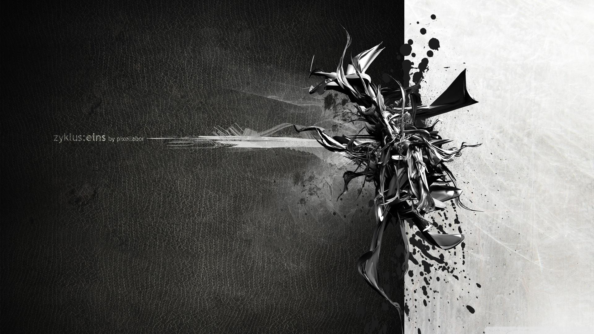 Black And White Art HD desktop wallpaper : High Definition