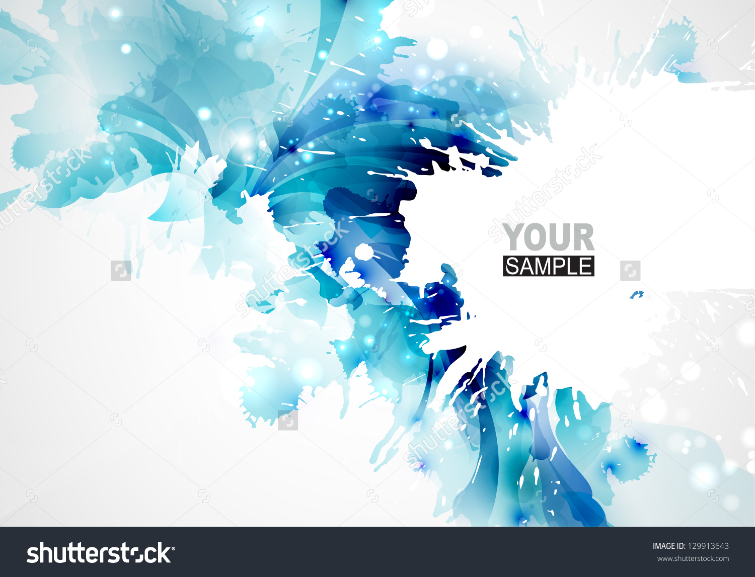 Abstract Artistic Background Forming By Blots Stock Vector