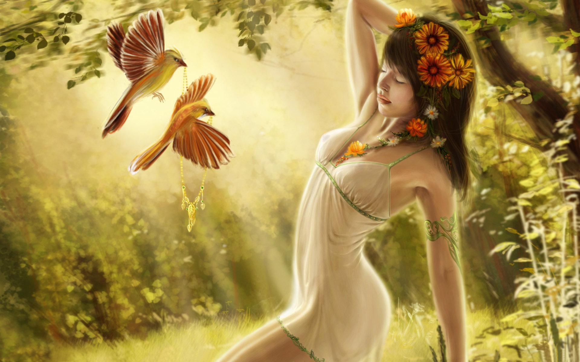 Digital Fantasy Girl Art Wallpapers   HD Wallpapers