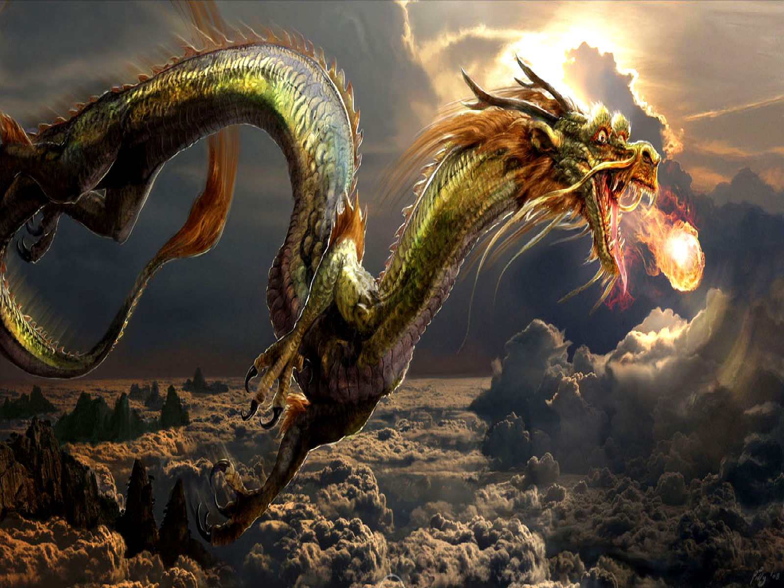 Awesome Dragon Wallpapers - Wallpapers Browse