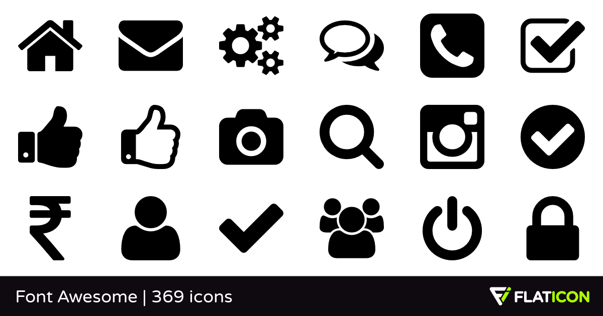 Font Awesome +365 free icons (SVG, EPS, PSD, PNG files)