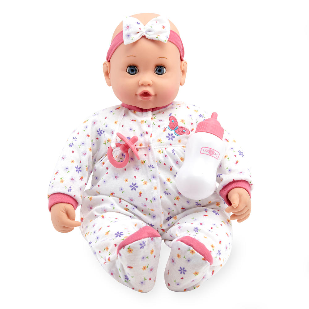 You & Me 18 inch Sweet Dreams Baby Doll - Caucasian with White
