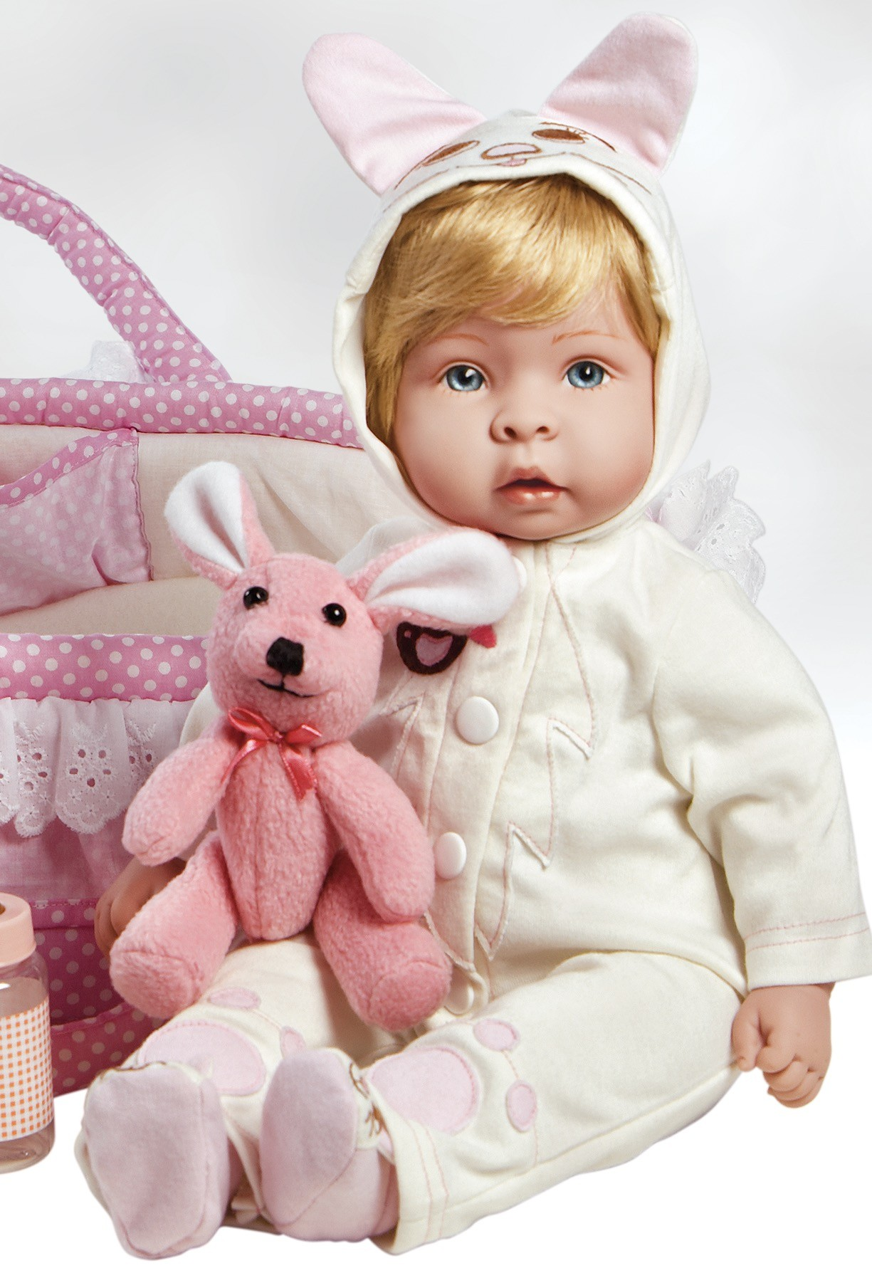 Real Looking Baby Doll, Finn & Sparky, 17 inch Lifelike Baby in