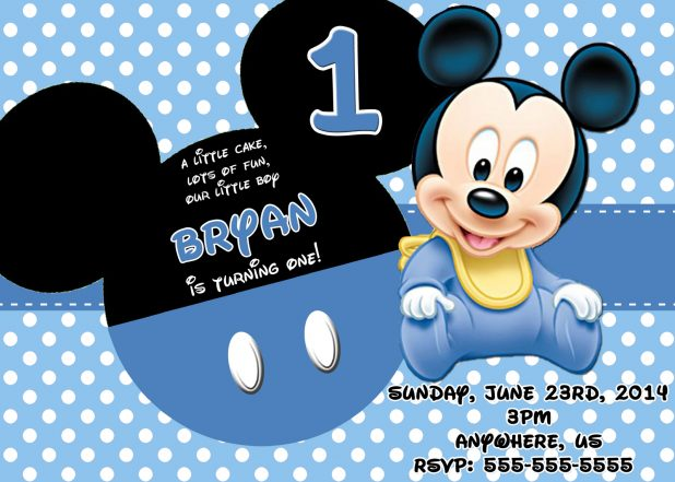 Beautiful Views Of Mickey Mouse Themed Baby Shower Invitations