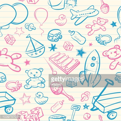 Seamless Baby Wallpaper Background Vector Art | Getty Images