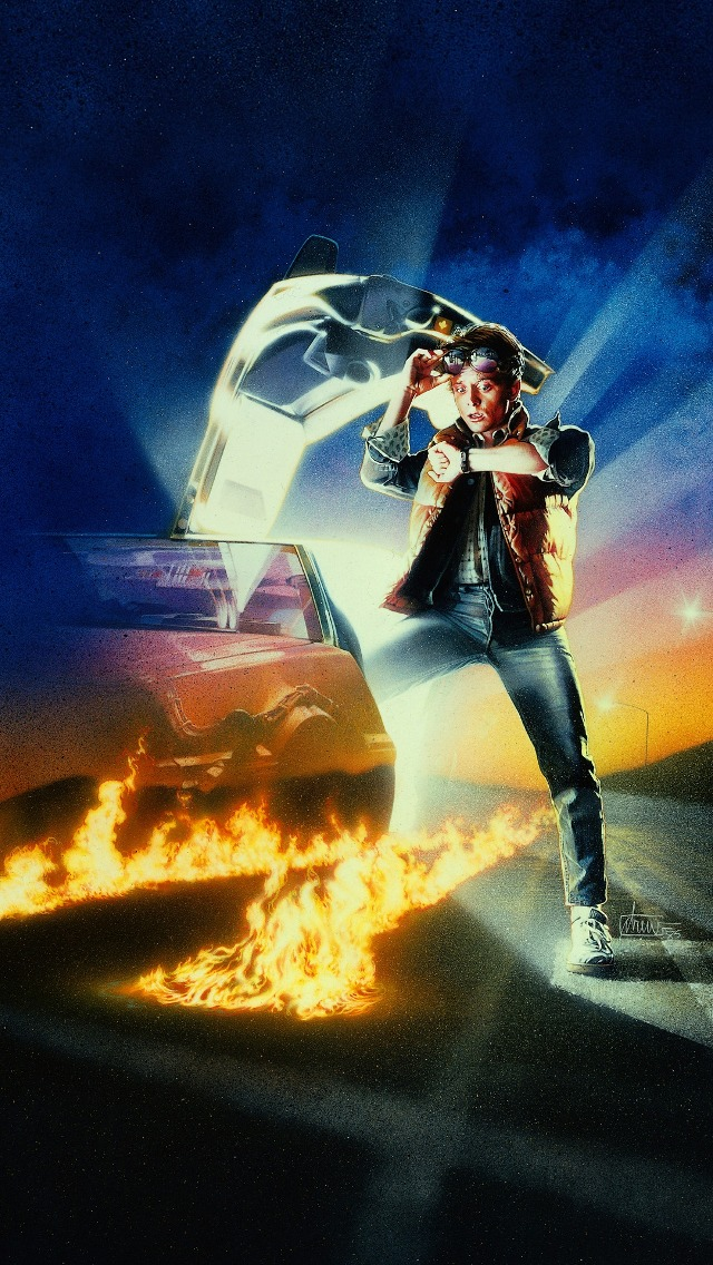 Back to the Future Marty iPhone 5 Wallpaper (640x1136)