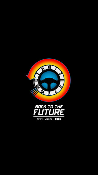 Back To The Future Minimal iPhone 6 Wallpaper