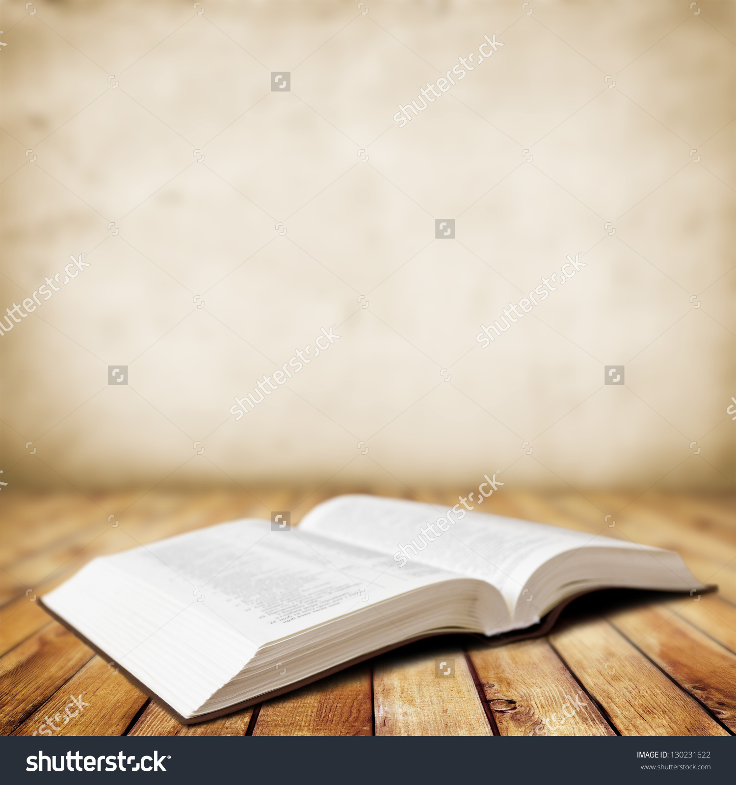 Open Book On Wood Background Stock Photo 130231622 - Shutterstock