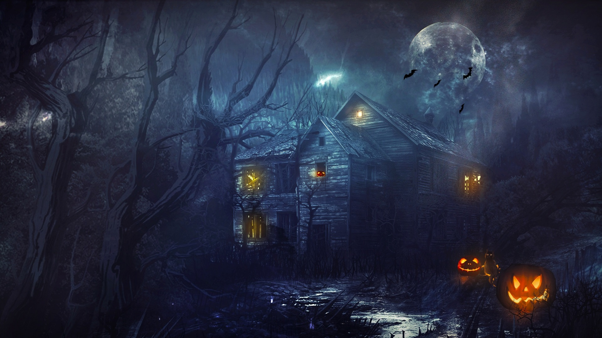 Halloween Background   Free Wallpapers   Pinterest   Haunted