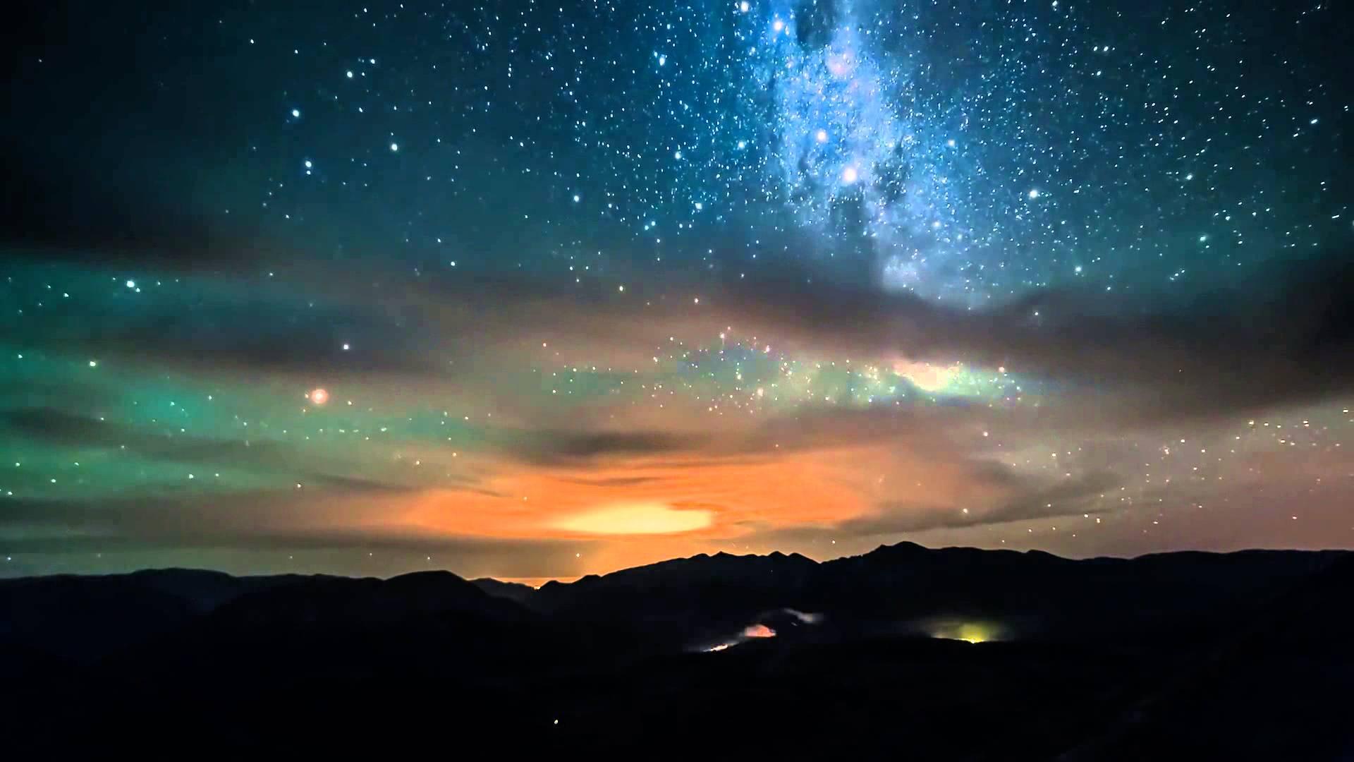 Звездное небо фотошоп 7