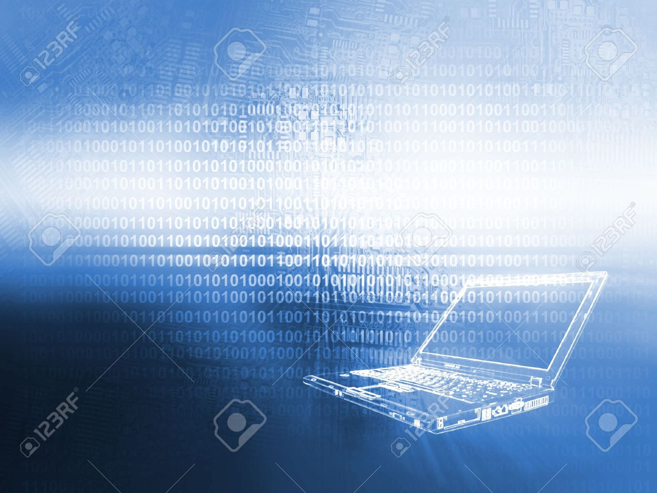 Laptop Technology Background Stock Photo, Picture And Royalty Free