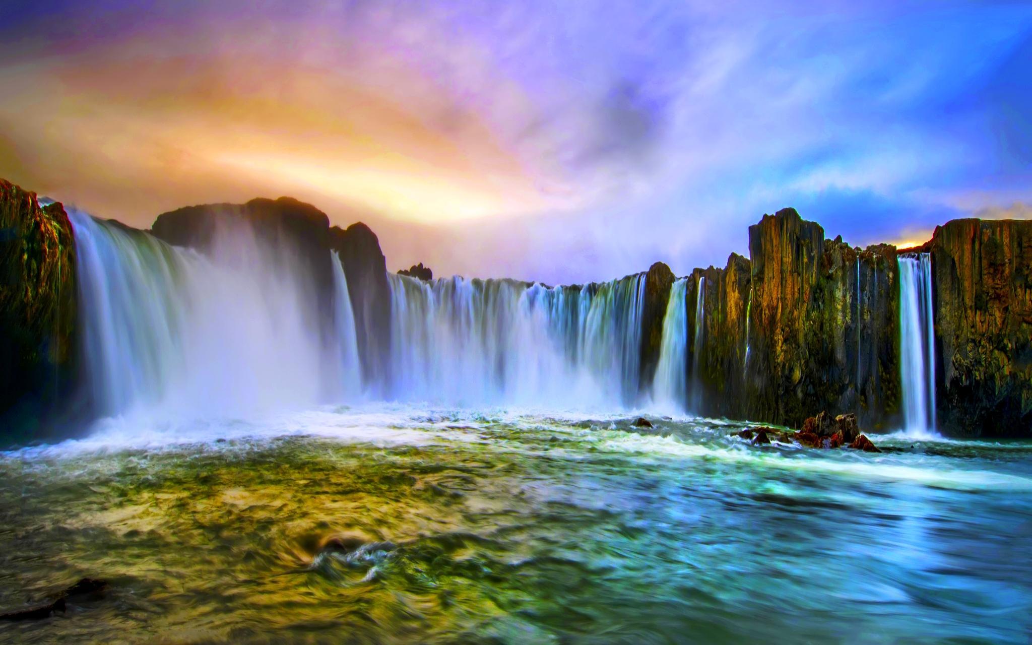 Real Waterfalls Wallpaper Desktop Background Wallpaper