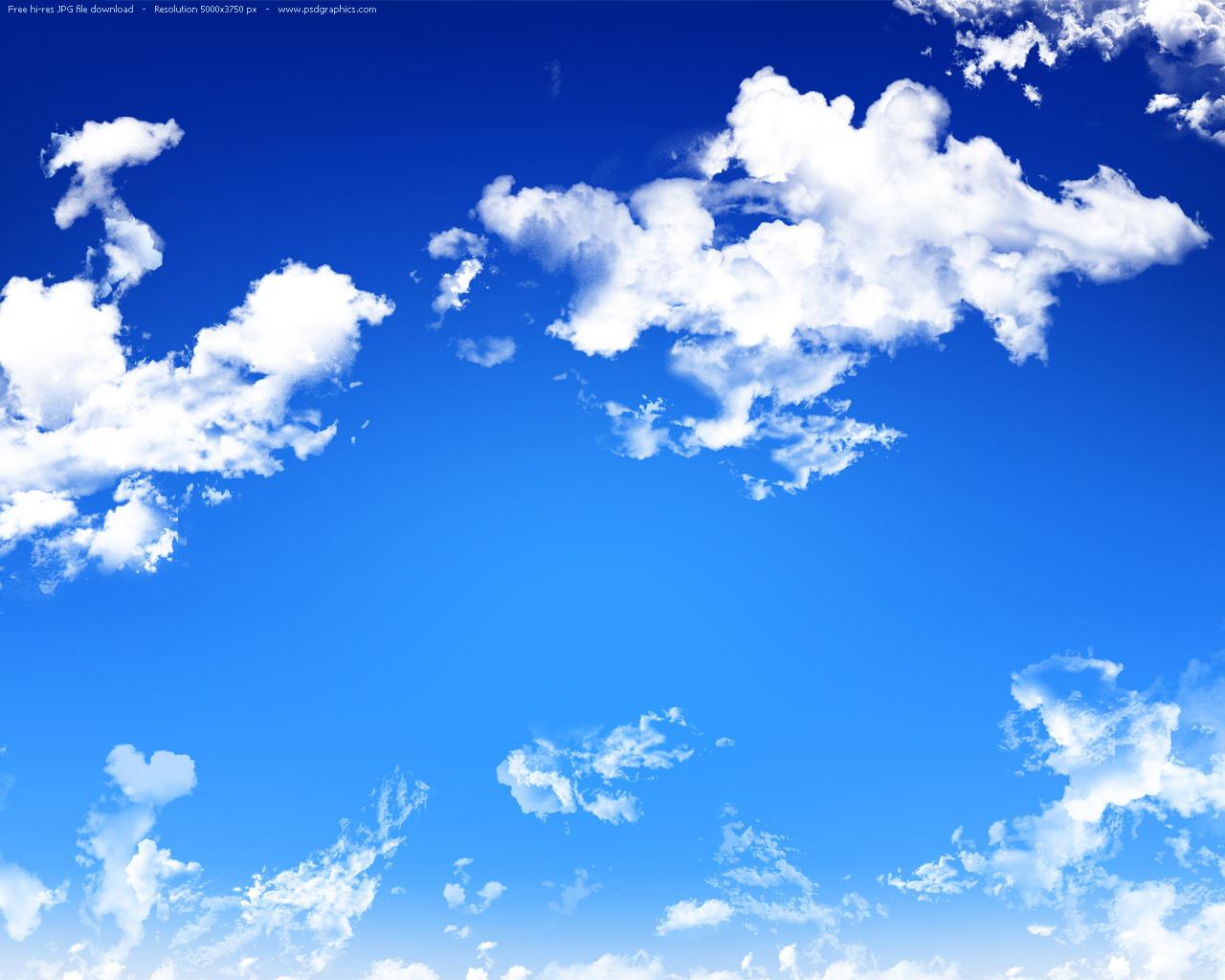 Blue sky background | PSDGraphics