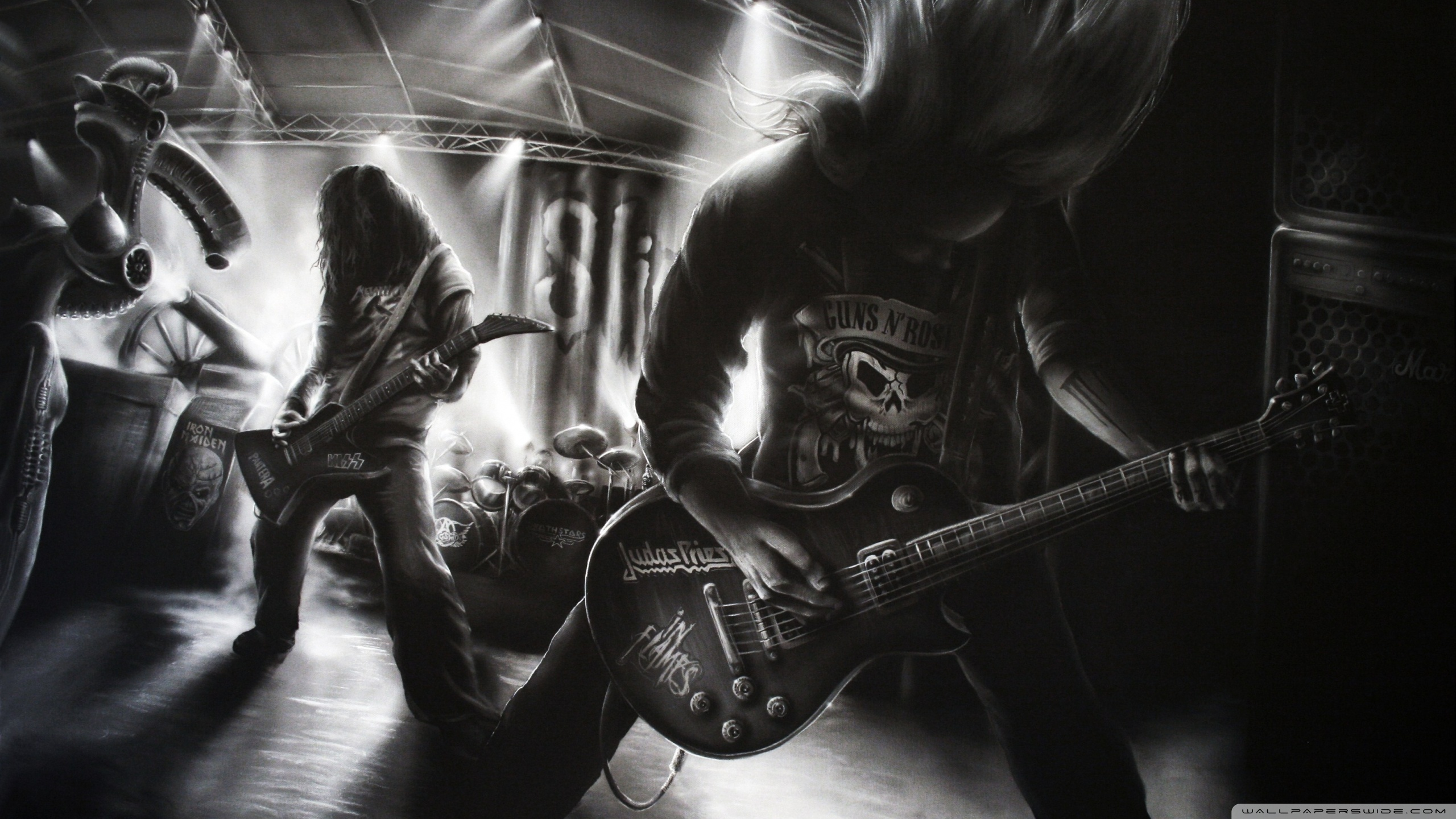 Metal Rock Band HD desktop wallpaper : Widescreen : High