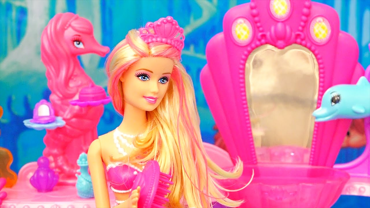 Barbie Toys - Mermaid Doll and Beauty Salon from the Barbie Movie