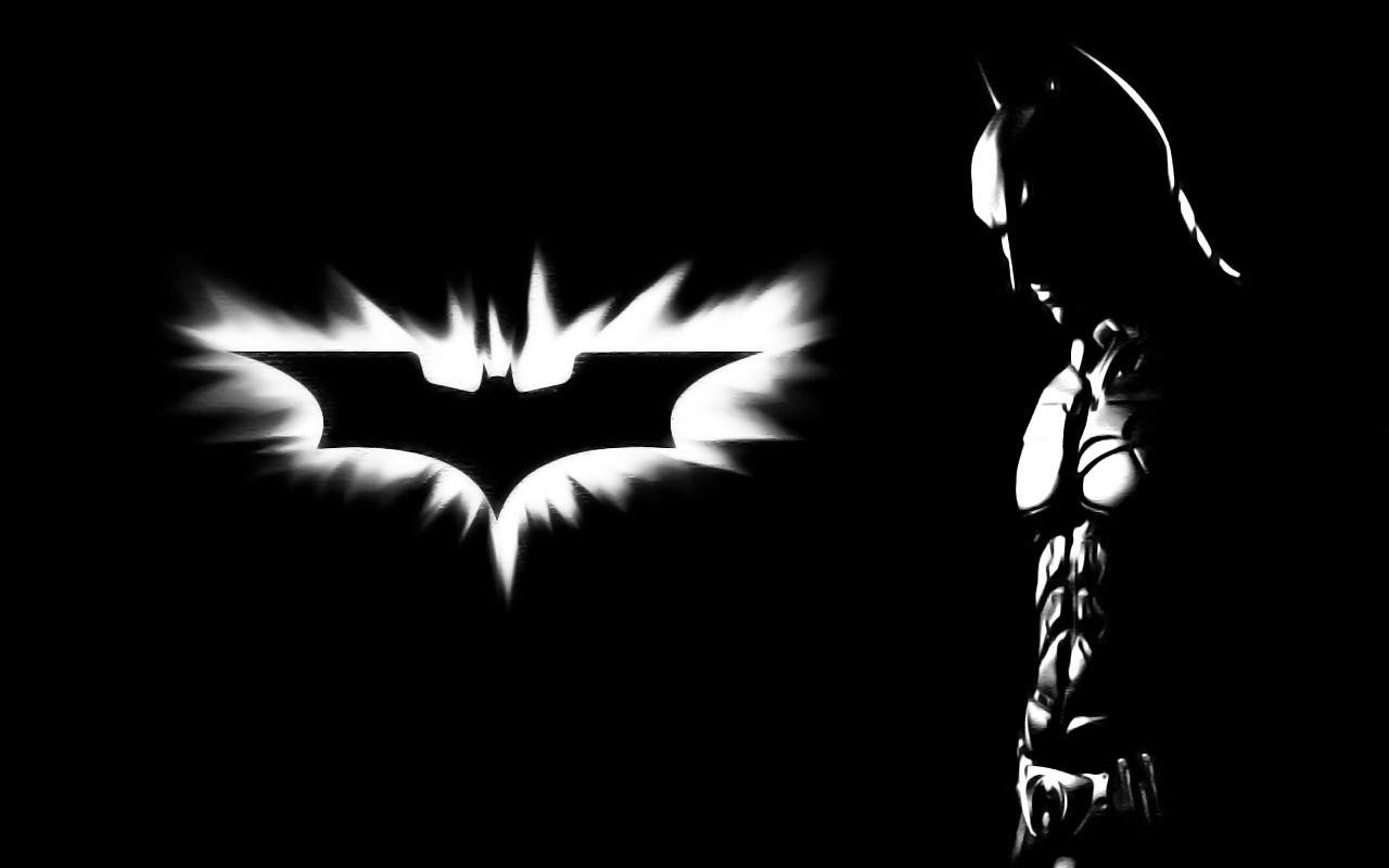 Download Batman Black And White Wallpaper | Full HD Wallpapers