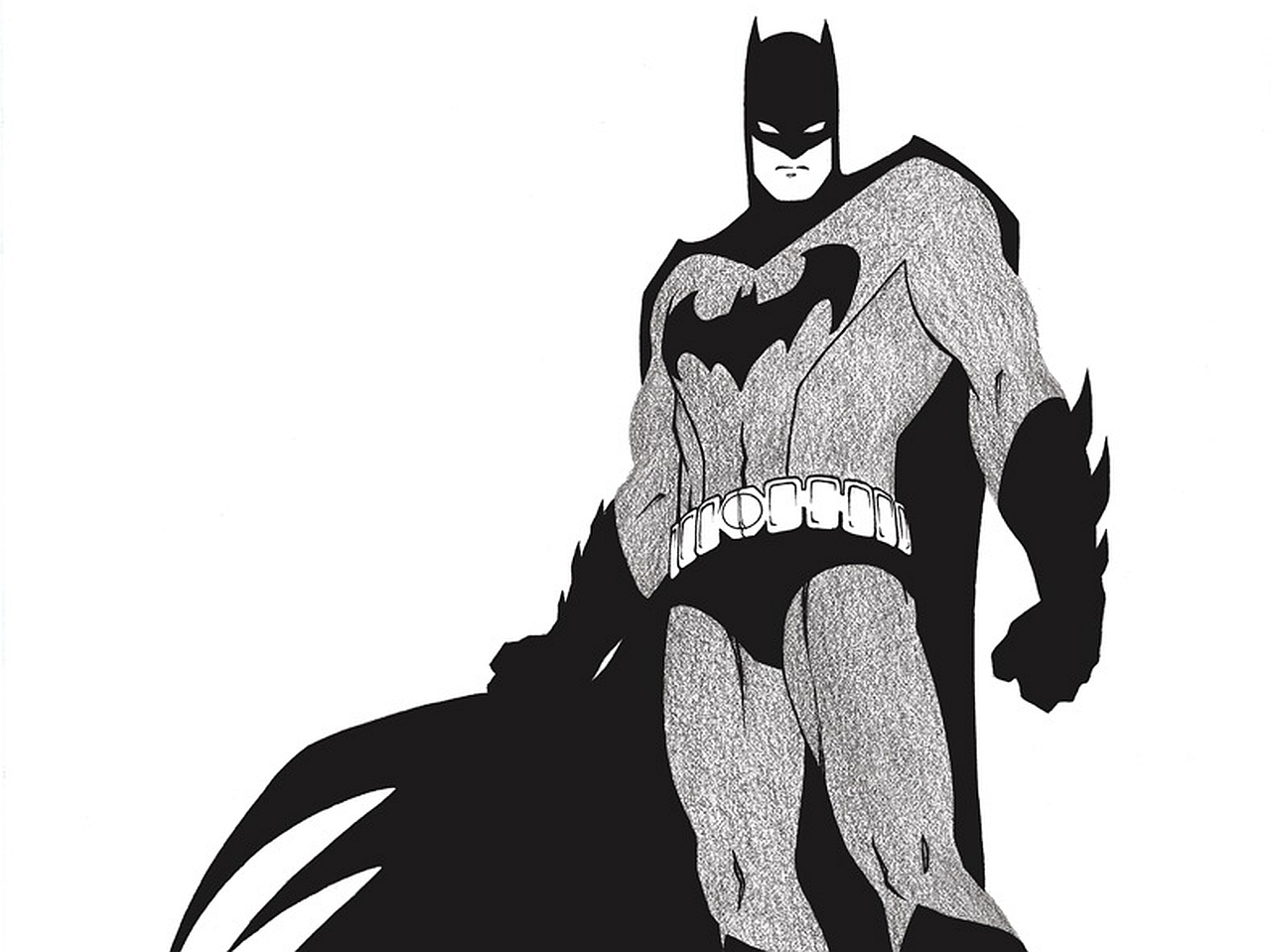 2 Batman Black And White HD Wallpapers | Backgrounds - Wallpaper Abyss