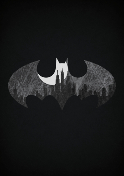Batman Symbol Black And White - wallpaper