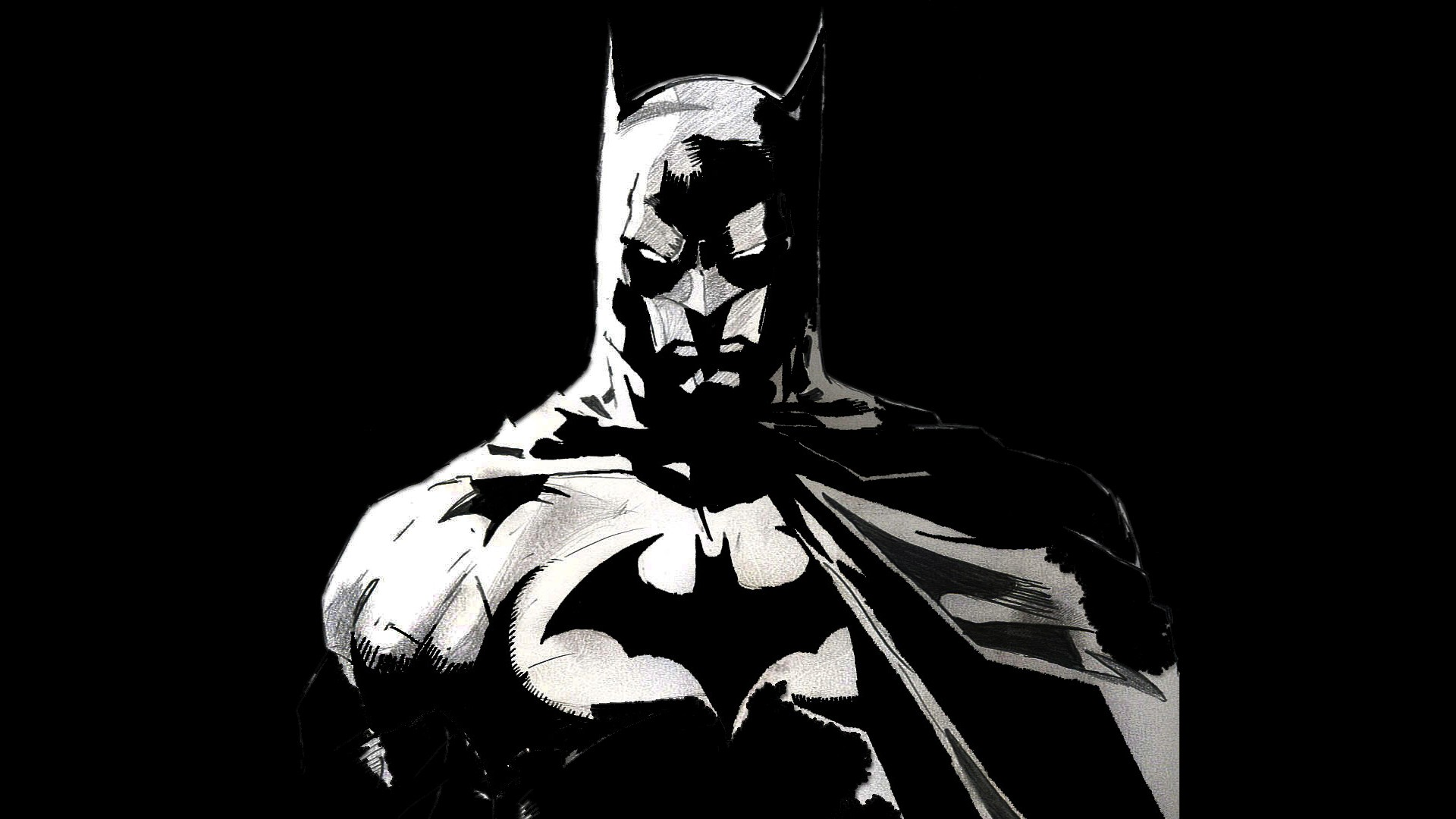 Batman Black And White Wallpaper