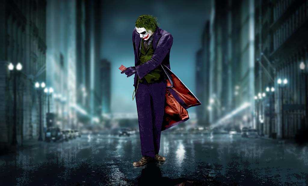 ZOOM HD PICS: JOKER FROM THE MOVIE THE DARK KNIGHT, BATMAN