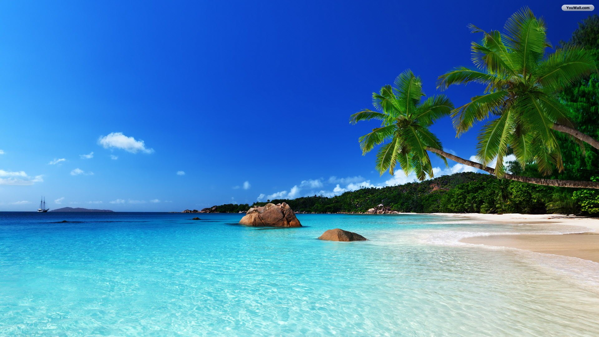 Tropical Beach Desktop Wallpapers Group (83+)