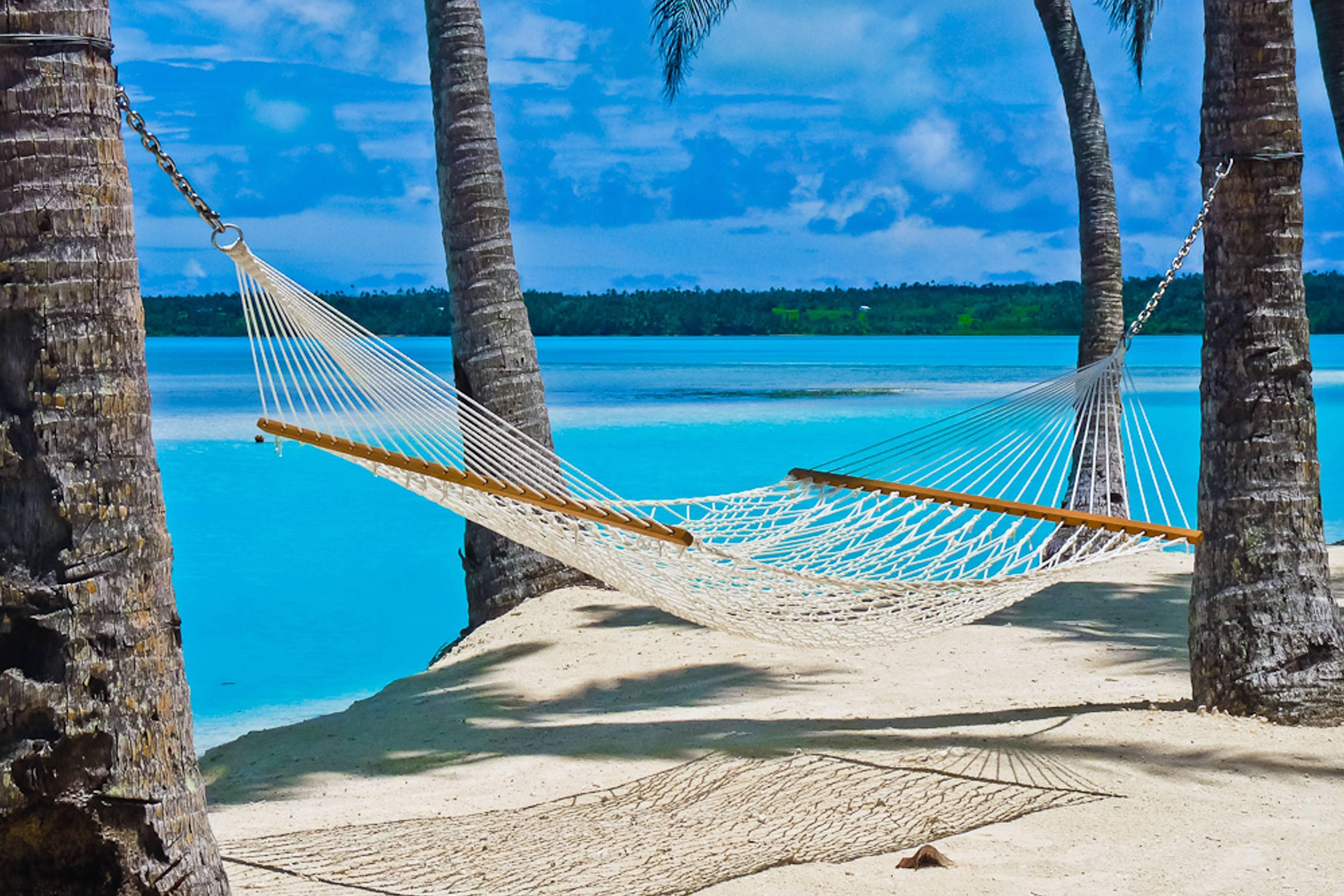 HD Hammock on Beach in the South Pacific Wallpaper | Fiji