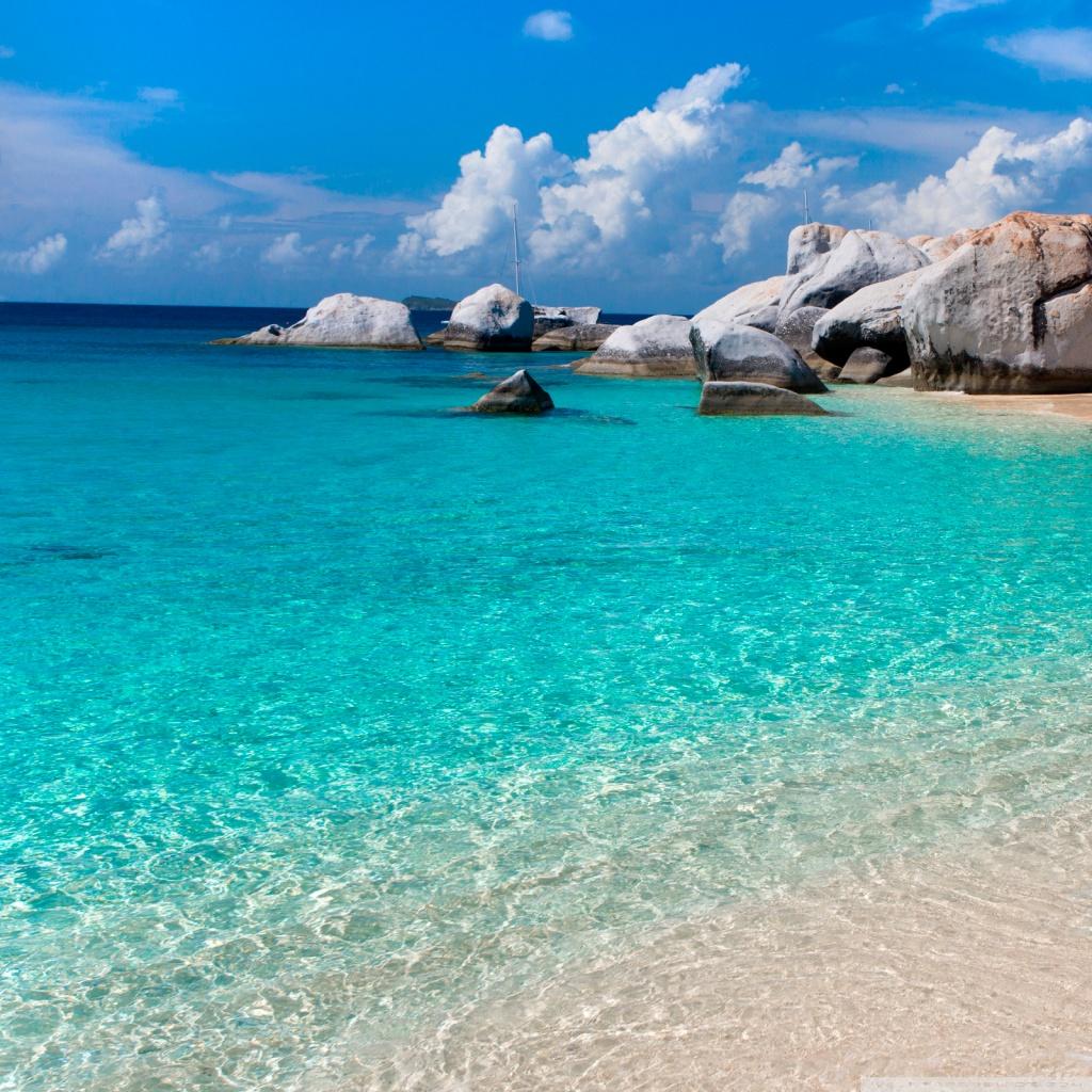 Summer Beach Scene HD Desktop Wallpaper High Definition Src