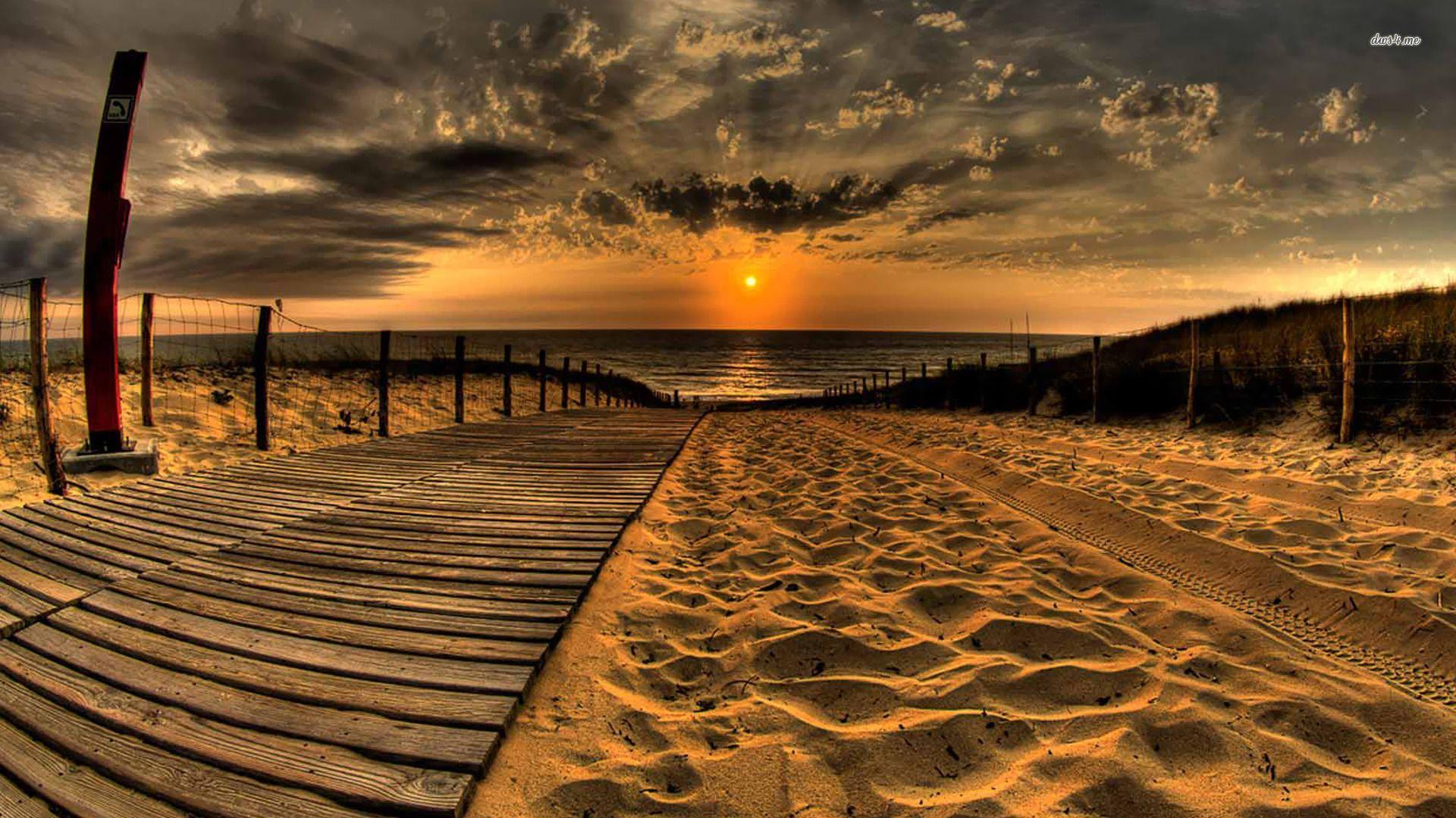 beach sunset wallpaper - sf wallpaper