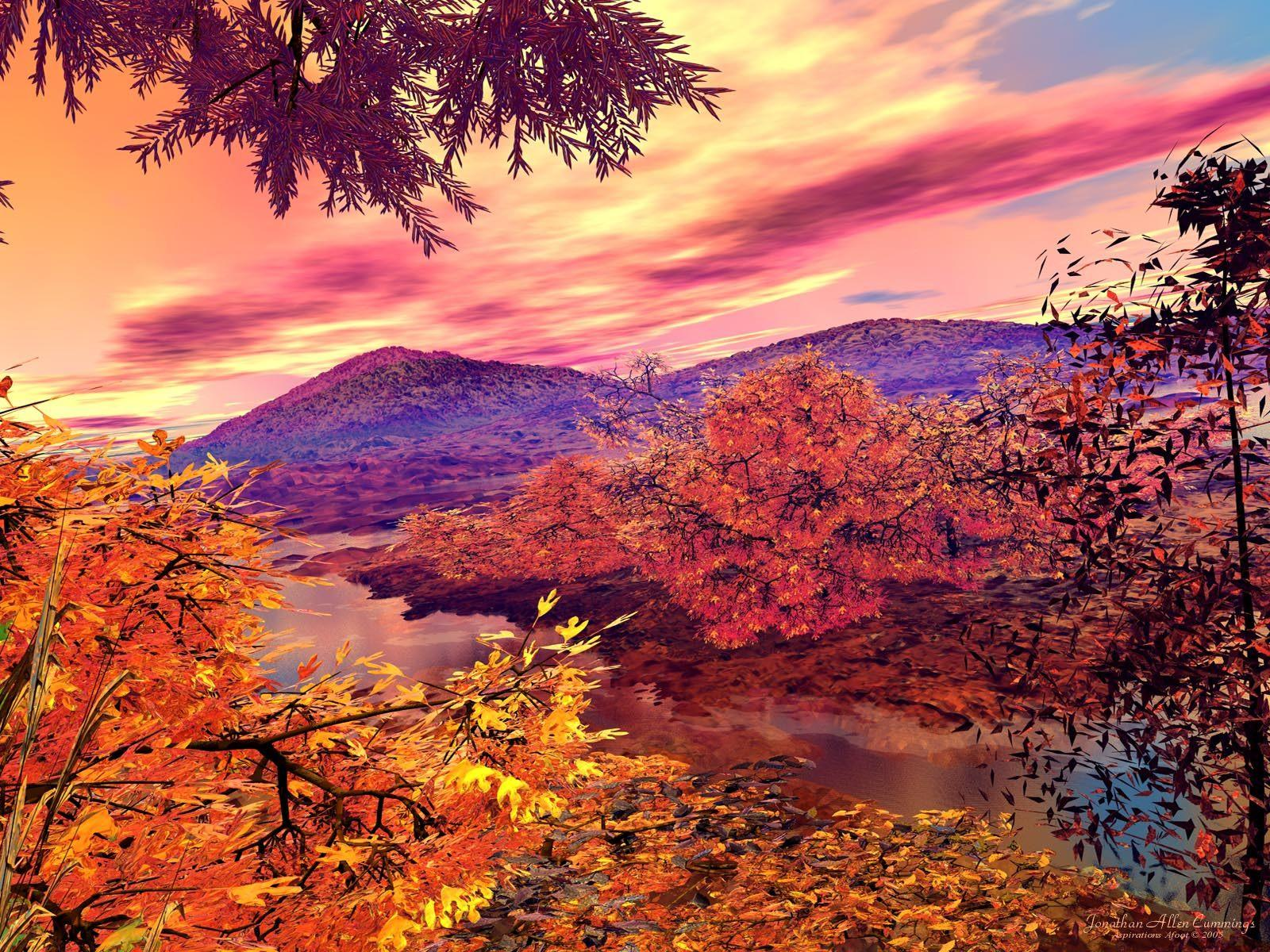 autumn landscape | Beautiful autumn landscape free wallpaper in