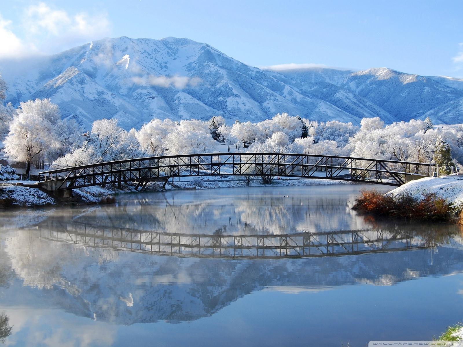 Beautiful Winter Scene HD desktop wallpaper : Widescreen : High