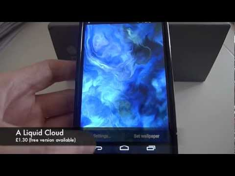 Android Best Live Wallpapers (on Jelly Bean 4 2, Nexus 4) - YouTube