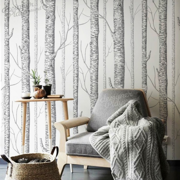 Birch Trees Wallpaper Peel and Stick