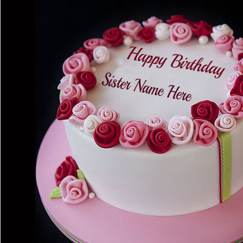 Write Name On Happy Birthday Cake For Lover