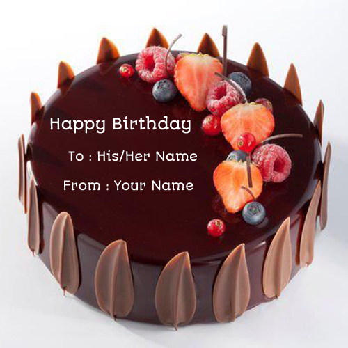 Birthday Chocolate Velvet Decorated Cake With Your Name