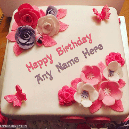 Write Name On Birthday Cake Pictures