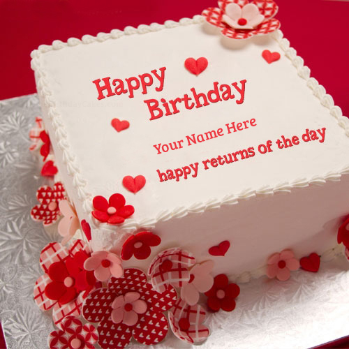Happy Returns of the day Birthday cake pics with name