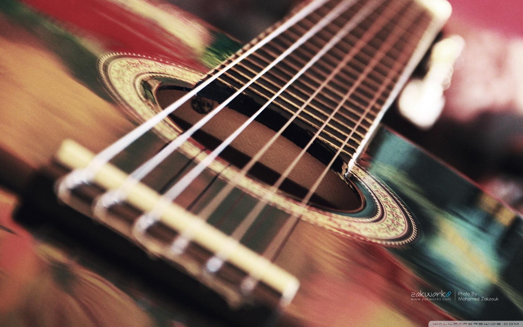 Acoustic Guitar HD desktop wallpaper : Widescreen : High