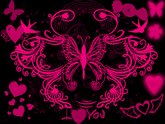 Black And Pink Wallpaper by angeldollyrockz on DeviantArt | Pretty