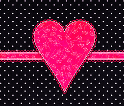 Hot Pink & Black Wallpaper with Heart - Hot Pink Heart Wallpaper
