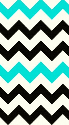 teal, black, and white chevron | Phone Wallpapers!:) | Pinterest