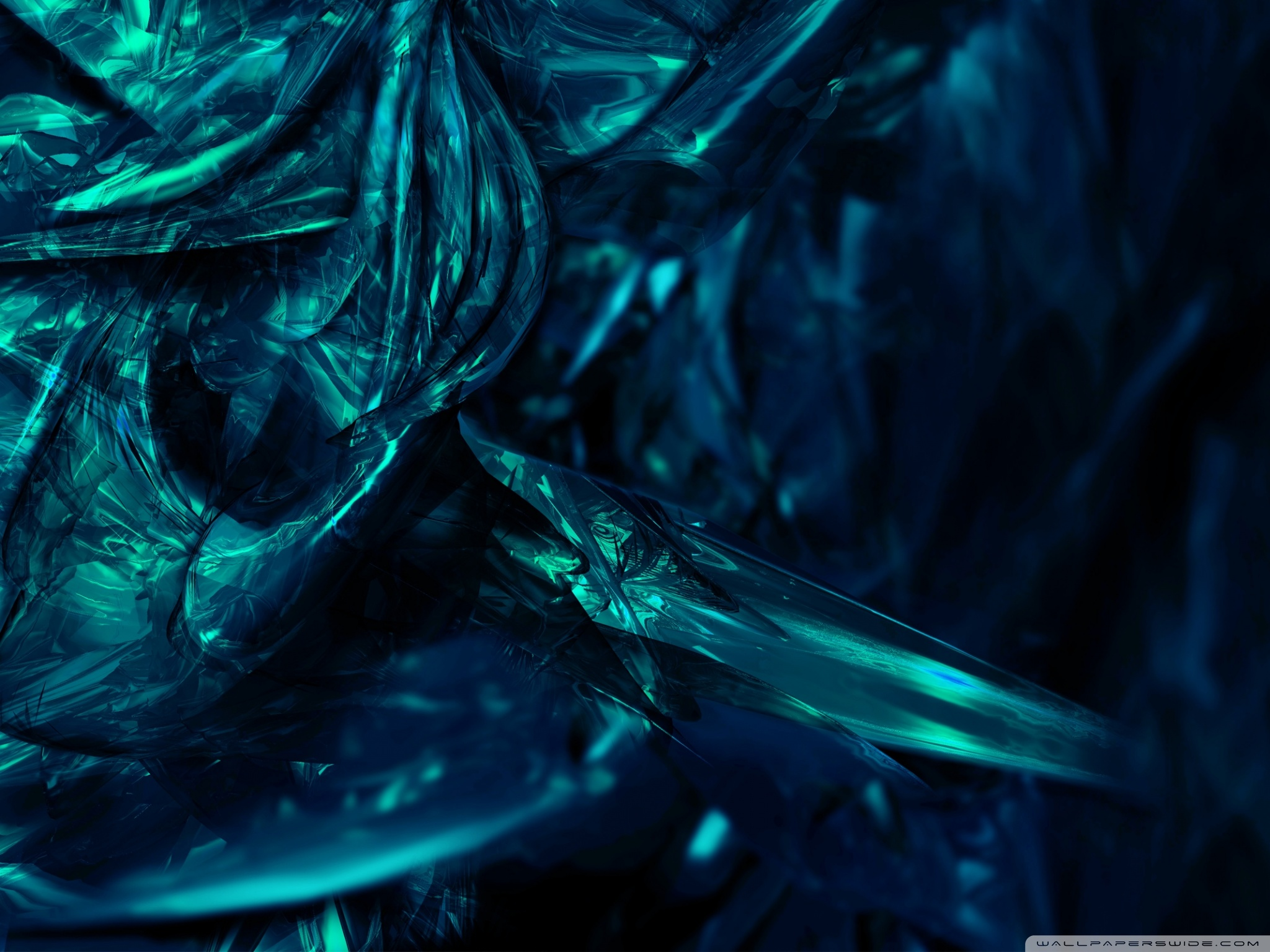 Abstract Turquoise Background HD desktop wallpaper : High