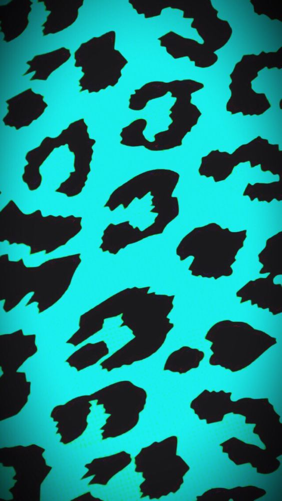 Cheetah blue teal turquoise black phone background wallpaper | M