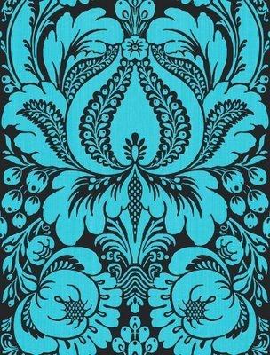 Wallpaper sample, turquoise and black  I want it to wallpaper the