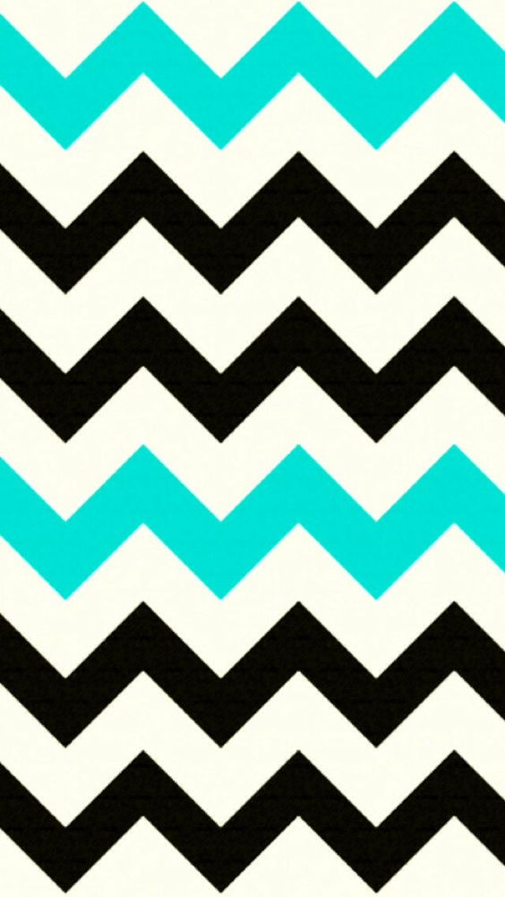 Black and Turquoise Chevron iPhone background  CUTE! | Cute