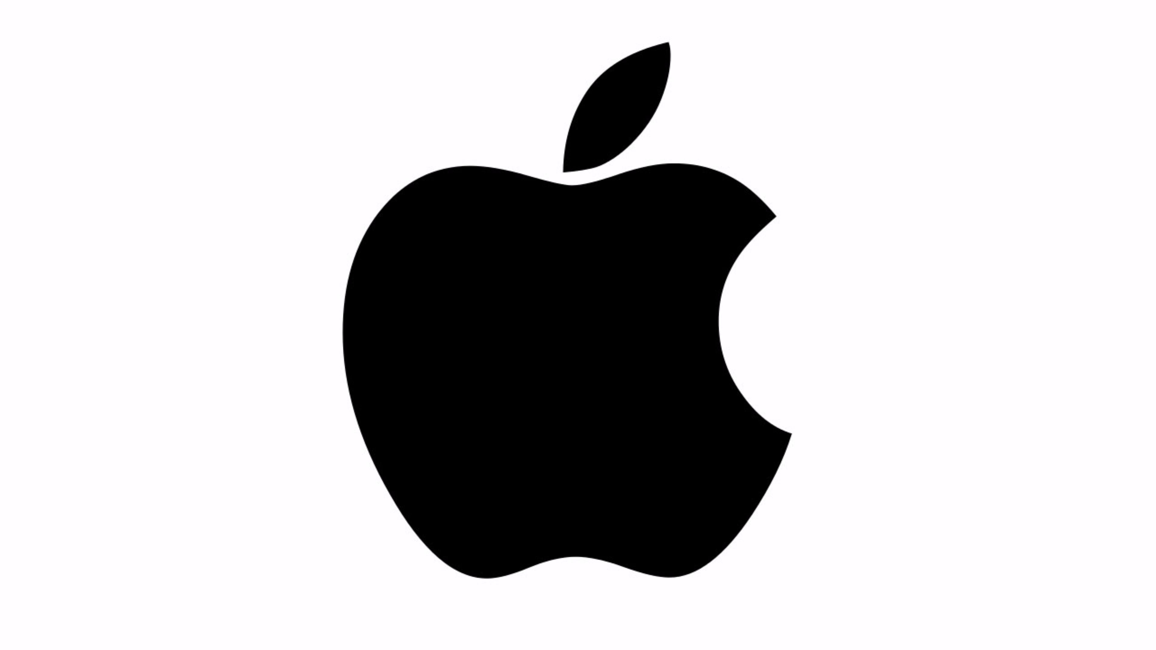Black and White Apple Logo 4K Wallpaper | Free 4K Wallpaper