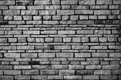 brick wall black white 2017 - Grasscloth Wallpaper