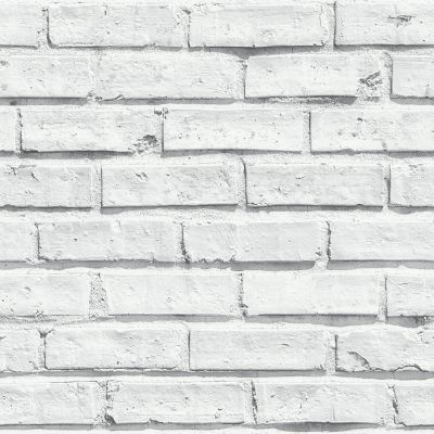 White Brick by Albany - White : Wallpaper Direct