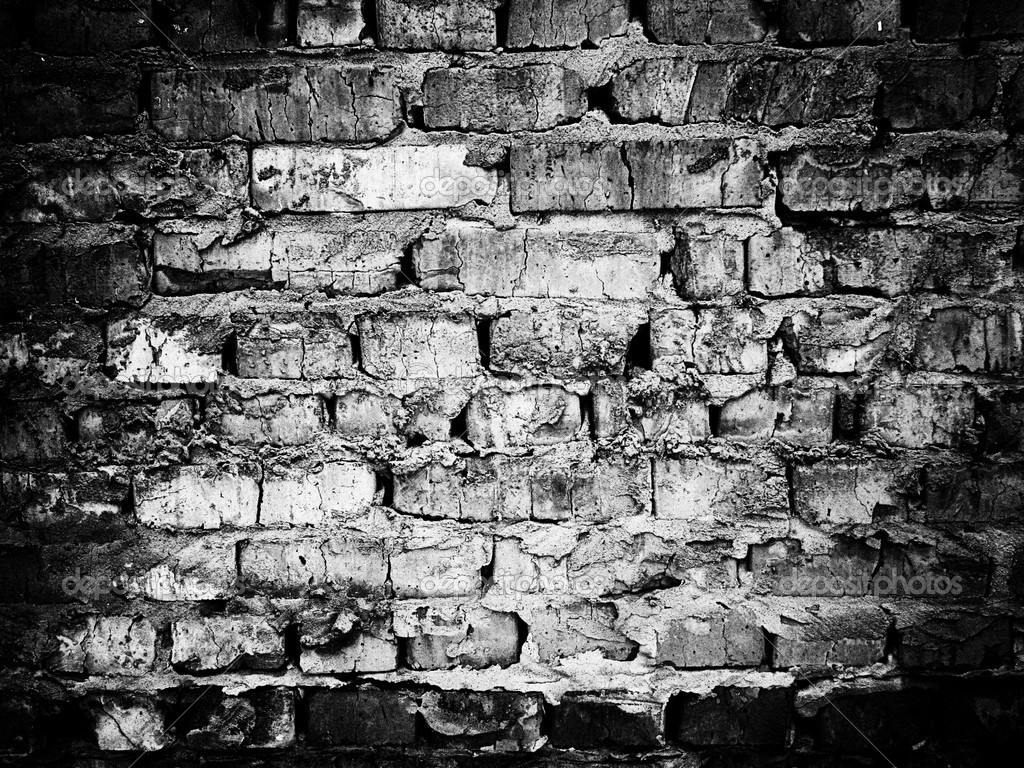 Black and white brick wall — Stock Photo © curaga #2410578