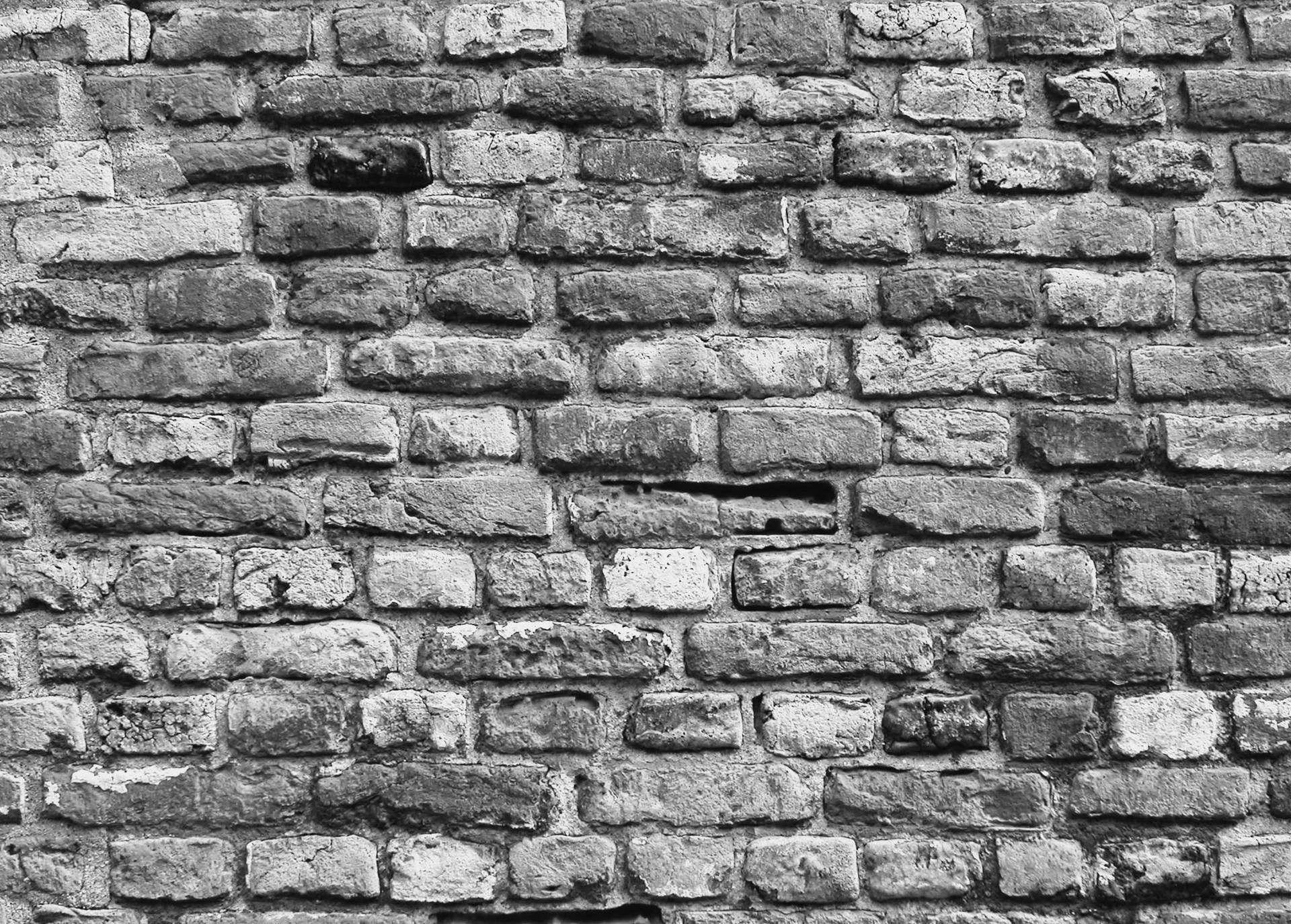 Black And White Brick Wallpaper