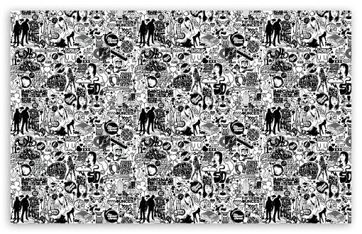 Comics Black And White HD desktop wallpaper : Widescreen : High